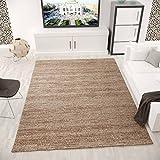 VIMODA Teppich Wohnzimmer Kurzflor Modern Meliert Farbechtheit Pflegeleicht in BRAUN 120x170 cm