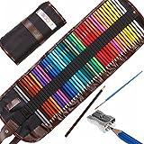 Set da 48 Pezzi di matite da Disegno Colorate di Alta qualità Pastelli Pre-affilati dai Colori Vivaci per Adulti e Bambini, con temperino KUM in Lega Metallica (Made in Germany)