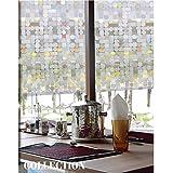 ABO Pellicola per finestre, Pellicola decorativa non adesiva, 45*200CM, AW1001-1