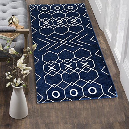 The Home Talk printed cotton floor rug/ bedside runner/ passage...