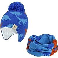 Vobony Cappello Sciarpa Bambino Invernale Carino Cartoni Animati Morbido Caldo Paraorecchie Berretto con Sciarpa…