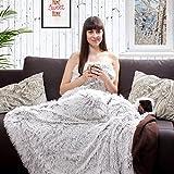 Kuscheldecke Felldecke Wohndecke Hundedecke EXTRA COSY Tagesdecke für Bett & Sofa, Couch, Bank, Stuhl mollig warm (braun)