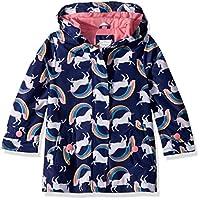 Carter's Girls' Toddler Favorite Rainslicker Rain Jacket, Unicorn Rainbows, 4T