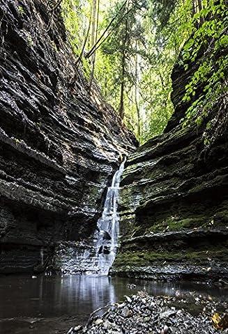 Aaloolaa 1x 1.5m Scenic Photographie Natural View arrière-plans Photo artistique Forêt Fond Roche Brook Stream Cascade arbres extérieur Voyage pour adulte Man Kid Portrait Props Studio d