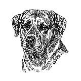 Schecker-Autoaufkleber Hundeaufkleber ideal für helle Autos Labrador-Retriever/gelb