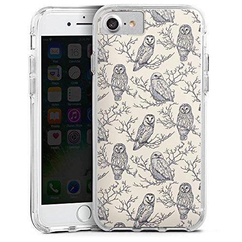 Apple iPhone 6s Bumper Hülle Bumper Case Glitzer Hülle Eulen Wald Forest Bumper Case transparent