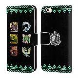 Head Case Designs Offizielle Monster Hunter World Alter Wald Ikonen Brieftasche Handyhülle aus Leder für iPhone 6 / iPhone 6s