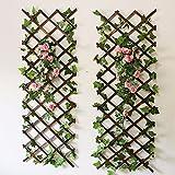 YOUMU Wandspalier aus Holz, erweiterbar, für Garten, Blumen, Kletterzaun etc., 150 x 30 cm, Braun