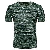 Cramberdy T Shirts Männer Kurzarm Bluse Top Herren Shirt Freizeit Tops Sweatshirt Kurzarmshirt Herren T-Shirts mit Rundhalsausschnitt Herren Tops Streifen Sommer Freizeit Hemd Herren Basic T-Shirt