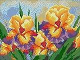 Riou DIY 5D Diamant Painting Voll,Stickerei Malerei Diamantr Crystal Strass Stickerei Bilder Kunst Handwerk für Home Wand Decor Gemälde Kreuzstich Gelb Blume Bild Muster (Mehrfarbig, 35 * 45cm)