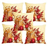 Sleep nature's merry Christmas printed Cushion Covers Set of Five