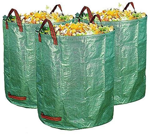 sunsang 2Pack de 72gallons/272L Garden Bag–Reusable Heavy Duty Gardening Bags, piscine Lawn Garden Leaf Waste Bag