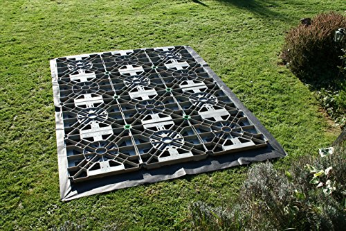The Hawklok 6 x 4 ft. Plastic Base Kit is supplied with membrane and six tiles, enough for a 6 x 4ft garden shed. This base is is also perfect for small outdoor structures, children's playhouses or sheds, small green houses, log cabins, and many more buildings.