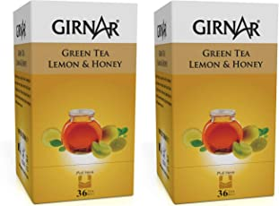 Girnar Green Tea Lemon and Honey (36 Tea Bags) Pack of 2