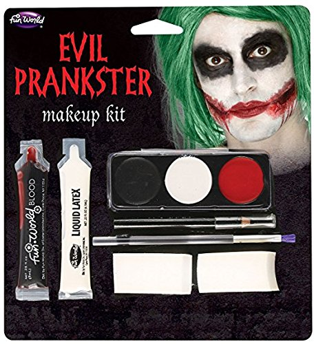 ster/Joker Make Up Kit with Latex, Blood, Makeup & Applicator (Halloween Joker-kostüm)