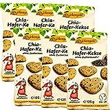 Birkengold Chia-Hafer-Kekse, 6er Pack | ohne Zuckerzusatz | 100 % mit europäischem Xylit gesüßt | vegan | gesundes Naschen | mit Bio Chia Samen