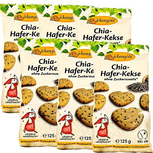 Birkengold Chia-Hafer-Kekse, 6er Pack (6 x 125 g)