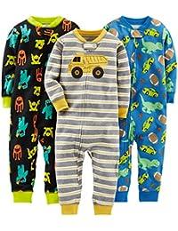 Simple Joys by Carter's Baby und Kleinkind Jungen Schlafanzug, knöchellos, Baumwolle, 3er-Pack