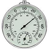 iMangoo Termómetro higrómetro de 10 cm para interior y exterior, termómetro de humedad interior y exterior, medidor de humeda