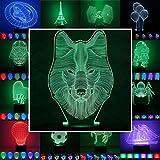 Designscheibe/Motivscheibe für 3D Lampe 3D Leuchte 3D LED Stimmungslicht in...