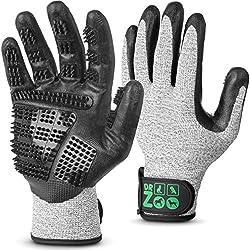 DR Zoo Gr. M Paar Fellpflegehandschuh zur Fellpflege durch Handschuh für Hund und Katze