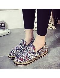 &HZOU Remache/impresión/plana inferior superficial/étnico/mujeres de/home/calzado/zapatos/comodidad/estilo , white , 36