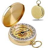 KANOSON Kompas voor navigatie, Vintage zakkompas met lichtgevende functie, waterdicht militair kompas voor kamperen/oriënteer