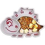 Baby Teller Schüssel Mini Silikon für Baby Kleinkinder und Kinder Tragbar Teller Baby Rutschfest Babyteller Tischset…
