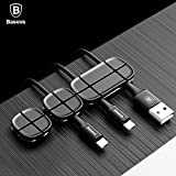 Baseus Magnetic Wire Organiser Clip USB Cable Organizer Clamp for Desktop (Black)