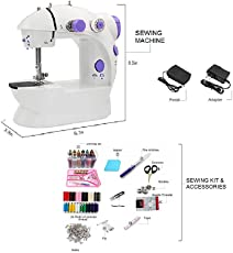 Mini sewing machines for home with Thread Set with Foot Pedal and Adapter