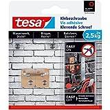 Tesa 77902-00-00 Lot de 2 Vis adhésives rectangle pour brique 2,5 Kg