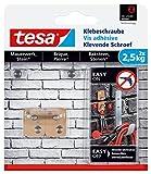 tesa Klebeschraube für Mauerwerk und Stein, Halteleistung 2,5 kg, vierckig, 2 Stück