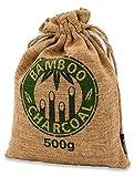 Ambientador de bambú con carbón activo,cojín Wunder, purificador de aire para salón, cocina, dormitorio, baño y WC, coche, etc., sin sustancias nocivas y 100 % biodegradable, 500 g