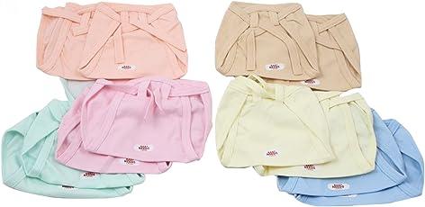 BabyNeeds Cotton Cloth Nappies 12pcs Set - Light Colors, L