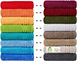 Handtücher Serie Milano BIO-Baumwolle in Luxusqualität, in 7 Größen und 16 Trendfarben - Grösse 3 x Handtücher, Farbe Mauve 374