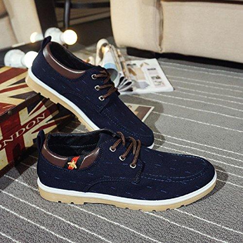 Uomo Il nuovo Scarpe di tela Antiscivolo Leggero traspirante Scarpe di tela Scarpe casual Ballerine Scarpe di stoffa euro DIMENSIONE 39-44 blue