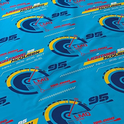 Disney Pixar CARS 3 RACE READY Auto Motiv Kinder FLANELL / BIBER Bettwäsche Wende Motiv – 2 tlg. Kissenbezug 80×80 + Bettbezug 135×200 cm – 100 % Baumwolle - 4