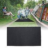 BBQ Tapis protecteur anti-feu ignifuge de gril de gaz de BBQ de tapis de sol d'arrière-cour de tapis de sol (124 x 75cm)