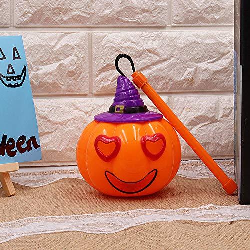 merymall Halloween-Kürbis-Lichter, Laterne, Spaß-Handgriff, Kinder-Licht Spielzeug für Party