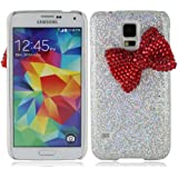 Bling strass strasssteine rhinestone bogen bowknot glitzer paillette hülle schale abdeckung case cover für Samsung Galaxy S5 SV S V I9600