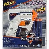 Nerf N-Strike Elite Triad EX-3 Blaster (Colors may vary), Model: A1690, Toys & Gaems