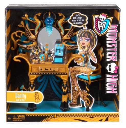 Mattel Monster High W9119 –  Cleos Schminktisch, Möbel - 4