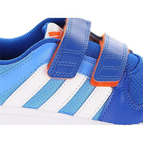 Adidas - Adidas LK Trainer 6 CF K Scarpe Sportive Bambino Blu Pelle Tela Strappi B40718 Blu