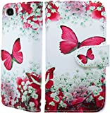 NWNK13® Apple iPhone 4 / 4G / 4S Flower Print Pu Leather Flip Book Wallet Case Cover with Gel Inner Frame Plus Purple Long Stylus Pen, Screen Protector & Polishing Cloth