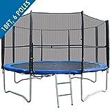 Filet de sécurité pour trampoline BodyRip, 2,45m - 3m - 3,66m, 6 Poles...