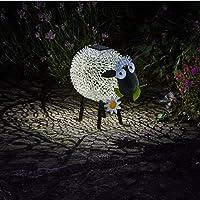 5er Set Outdoor Garten LED Solar Leuchte Dekoration Tier Schaf 1-flammig weiß
