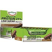 Equilibra Protein 31% Low Sugar Caramello, 24 barrette da 35 g