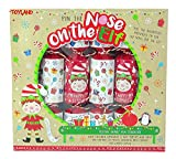 TOYLAND® Pack of 6 - Pin The Nose On The Elf Gioco Christmas Crackers - novità Christmas Crackers