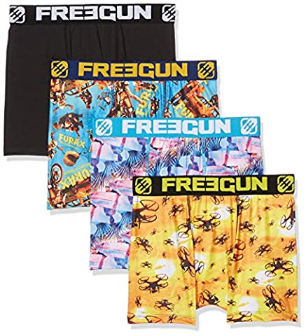 Freegun X4, Boxer Homme, Multicolore, Small (Taille Fabricant:S) (lot de 4)