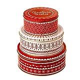 Eddingtons Nordic Weihnachten Keksdosen Set von 3